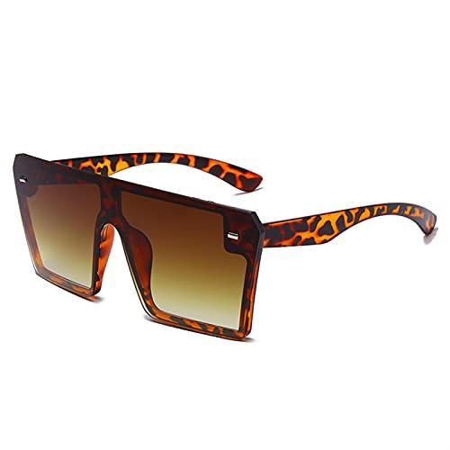 HNGM Gafas de Sol Moda Retro Conducción Gafas de Sol Señoras Hombres de Gran tamaño Gradiente Cuadrado Gafas de Sol Rosa Gafas UV400 Espejo (Lenses Color : 2 MWJ13099 C5)