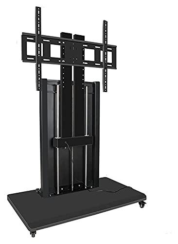 TabloKanvas Soporte de TV de altura ajustable de pie de dos columnas de control inteligente para televisores planos de 40 a 90 pulgadas (color negro)