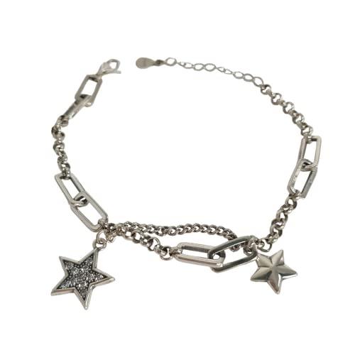 AaaSue Star Zircon Bracelet 925 Silver Silver Ladies Braccialetto di Fascino Ladies Couple Party Gioielli Regalo