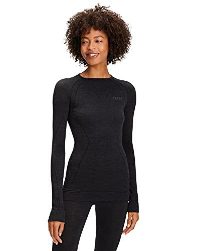 FALKE Damen Wool Tech. W L/S SH Baselayer-Shirt, Schwarz (Black 3000), M