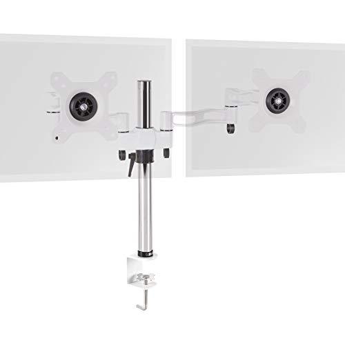 Duronic DM352 BK Soporte para 2 Monitores de 13' a 27' Pulgadas con Doble Brazo 8Kg máx -Altura Ajustable, Giratorio, inclinable - Soporte para 2 Pantallas Compatible...