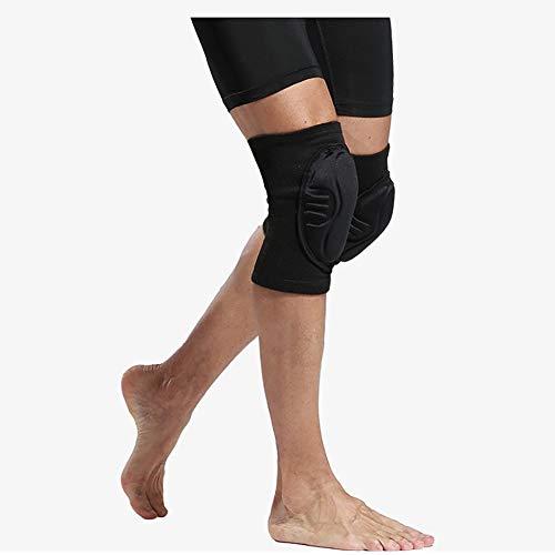 Knieschoner Fußball Schutzausrüstung Torwart Ausrüstung Anti-Fall Kollision Basketball (Color : Black, Size : L)