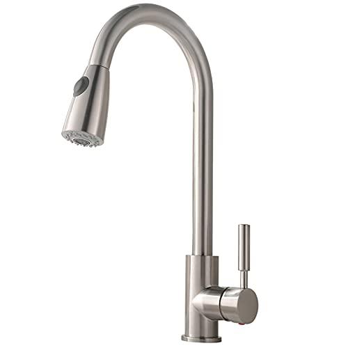 Comllen Commercial Single Handle Kitchen Sink Faucets