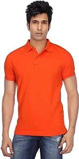 Ytrick Men's Orange Polo t-Shirt