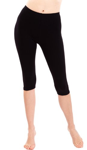 Black Capri Leggings Three Quarter Length