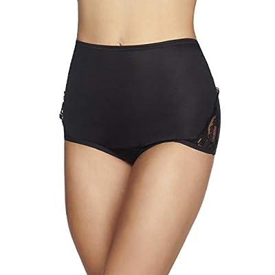 Vanity Fair Women's Underwear Perfectly Yours Traditional Nylon Brief Panties, Midnight Black, 10