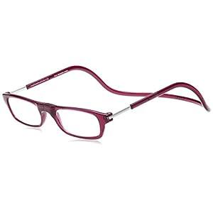 [クリックリーダー] 老眼鏡 Clic Readers メンズ ボルドー +2.00-(FREEサイズ)
