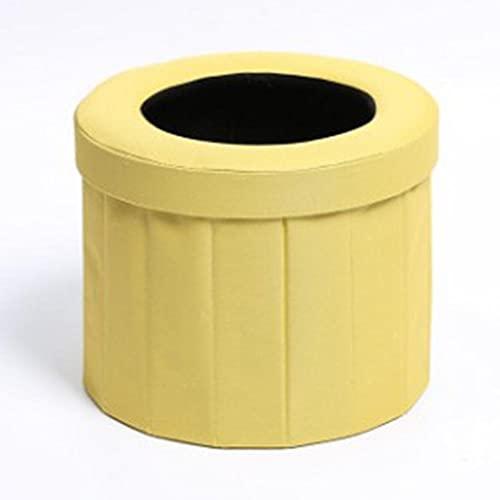 JINQIANSHANGMAO Aseo Plegable portátil Aseo móvil Aseo para Acampar Inodoro Outdoor Ouin Bag Auto-Driving Senderismo Viajes Travel Dobling Wit (Color : Yellow)