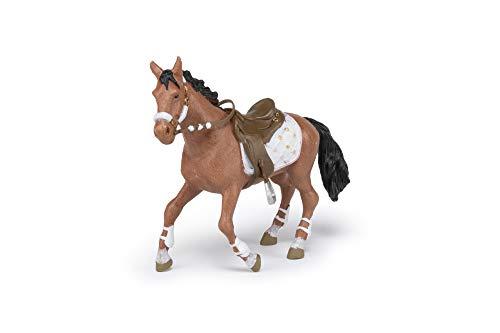 Papo- Cheval de la cavalière Fashion Hiver, POULAINS ET PONEYS Figurine, 51553, Multicolore