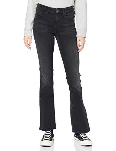 ONLY Damen ONLBLUSH Life MID Flared BB ANA011 Jeans, Schwarz, M/32