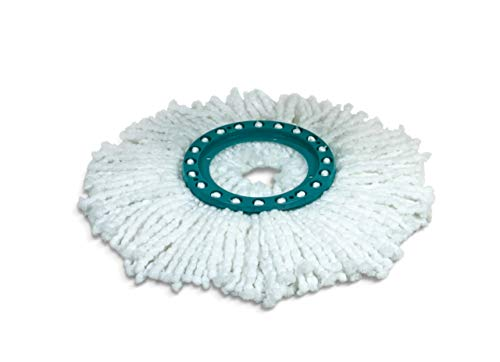 Leifheit Disc Testina Sostitutiva, con Microfibre Flessibili, Turchese