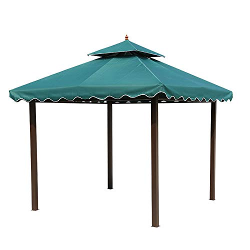 Newgreeny Gazebo Courtyard Tent Outdoor Garden Awning Farmhouse Corner Stall Pavilion Awning 4 * 6 meters without surrounding cloth