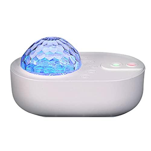 HDHUIXS Luz de estrella de la noche Proyector de la estrella Ocean Wave Sky Galaxy Lámpara Luces LED para el dormitorio con el altavoz de música Bluetooth Control remoto 360 ° Lámpara de ambiente gira