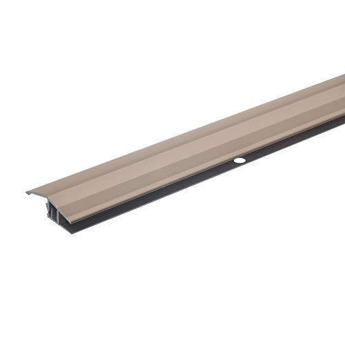 acerto 37003 Alu Höhenausgleichsprofil, 100cm, 7-10mm * Inkl. Schrauben * Übergangsprofil für Laminat, Parkett & Teppich | Übergangsleiste, Bodenprofil für Fußböden (bronze hell)