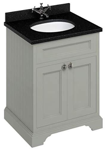 Casa Padrino Waschschrank/Waschtisch mit Granitplatte und 2 Türen - Limited Edition, Farbe Badmöbel:dunkeloliv