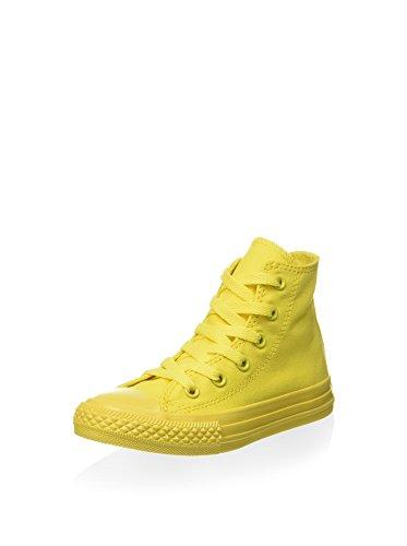 CONVERSE - Scarpa Sneaker gialla stringata, in tela, Bambina,ragazza-35