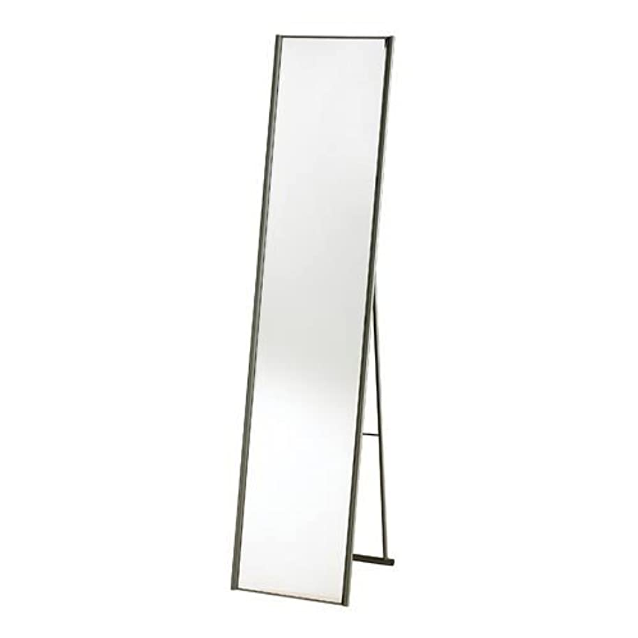 Swag Pads Modern Free-Standing Floor Mirror in Champagne Steel Finish