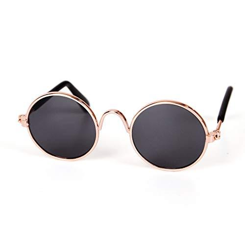 HehiFRlark - Gafas de sol de metal con personalidad, gorros divertidos, accesorios para animales de compañía, gato, gafas de sol, color negro