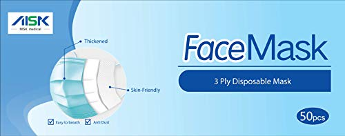 3 Ply General Use Face Mask, pack of 50