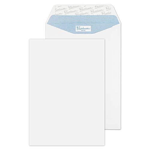 Blake Premium Office - Busta per lettere, con chiusura adesiva formato C5, 229 x 162 mm, 25 pezzi, colore: Bianco
