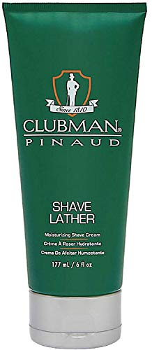 Clubman Pinaud Shave Lather Moisurizing Shave Cream 6 oz (Pack of 6)