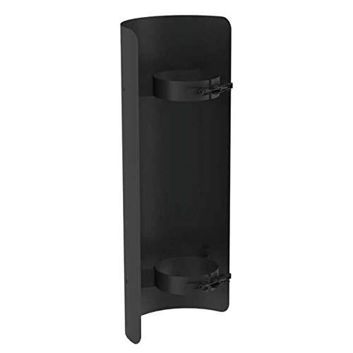 Ø 80mm Pelletofenrohr Strahlungsschutz für Längenelement 500mm schwarz - hitzebeständige Silikonfarbe - rußbeständig - frost- und tauwechselbeständig - bis 200°C