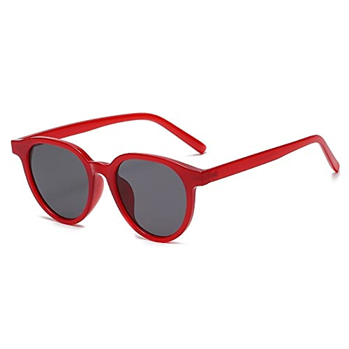 AMFG Gafas de sol ovaladas retro Tendencia femenina Gafas de sol Masculina Sart A Sunshade Decorativo Sombrilla Al Aire Libre Mirror (Color : D)
