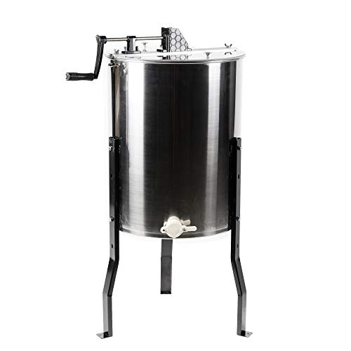 VIVO 4 to 8 Frame Stainless Steel Honey Extractor, SS Bee Honeycomb Drum BEE-V004B