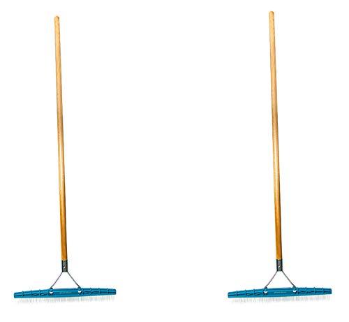Grandi Groom Carpet Rake, 18-Inch Head, 54-Inch Handle (2-(Pack))