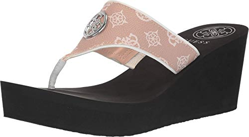 Guess Women's Wedge Flip Flop, Pink, 9 M