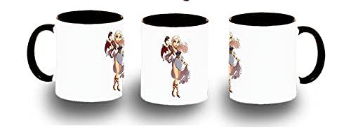 MERCHANDMANIA Taza Negra Princesa Madre DE Dragones Reino Color mug