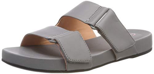 Clarks Bright Deja, Mules para Mujer, Gris (Grey Leather-), 37.5 EU