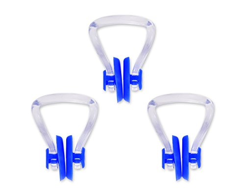 DSstyles 3 piezas de PVC de silicona nariz de natación nariz acortar enchufe nariz de natación para adultos