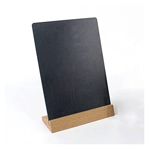 Restaurantes Soporte de pantalla Tablero de mensajes Base de madera Estilo vintage Pizarra de la mesa con soporte, tabla de la tabla Pizarra para el restaurante del hogar (A4 o A5 o A6) Soporte de car