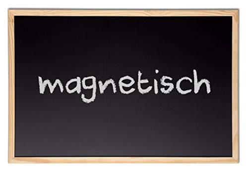 Kreidetafel 40 x 60 cm magnetisch mit Holzrahmen