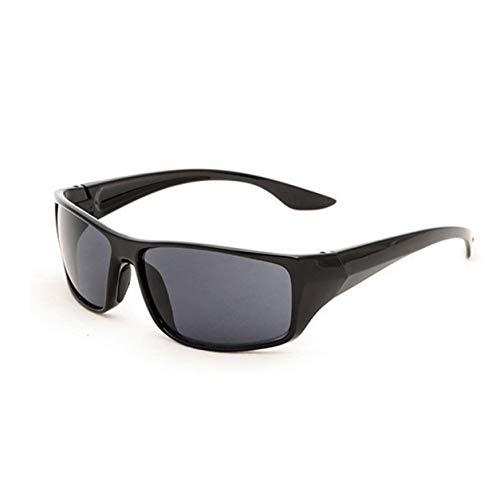 YXDS Gafas de Sol Deportivas para Hombre 5380 Marco Amarillo Gafas de visión Nocturna Conductor Espejo de conducción Nocturna Durable Portátil