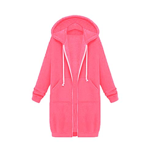 Herbst Und Winter Frauen Super Long Plus Velvet Plus David Kleidung Loose Hooded Cardigan