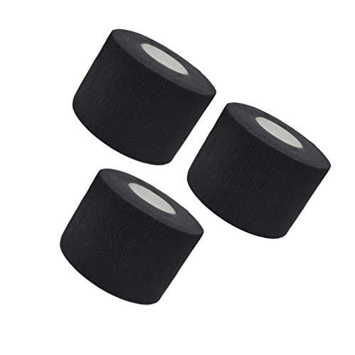 PIXNOR Tiras Desechables para El Cuello de Peluquero 3 Rollos de Papel Flexible para El Cuello de Peluquería para Cortar El Cabello Accesorios de Salón