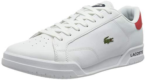 Lacoste Sport Herren Twin Serve 0721 1 SMA Sneaker, Wht/NVY/Red, 42 EU