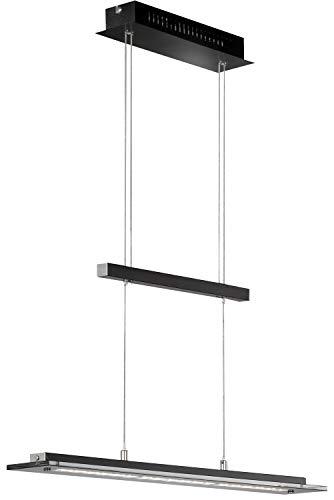 LED Hängeleuchte Pendelleuchte Deckenleuchte | Metall | Glas | Touchdimmer | Höhenverstellbar