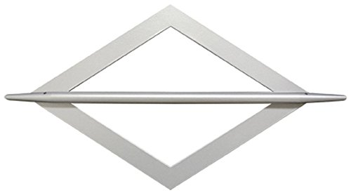 Raffspange Dekospange Raute Metall Edelstahl-Optik eckig Splint Raffhalter Raffring Dekoring