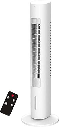 DTWC Refrigerador de Aire evaporativo 1 2l Tanque de Agua extraíble 35 Torre Ventilador con función de enfriamiento y humidificación 60 ° Oscilación 3 Velocidad