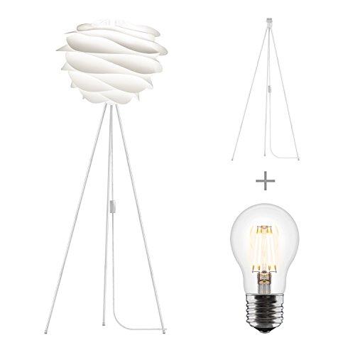 Umage/VITA Carmina Stehleuchte für A++ bis E inkl. Tripod und LED A+ weiss 48 x 36 Tripod H 109 cm Lampe