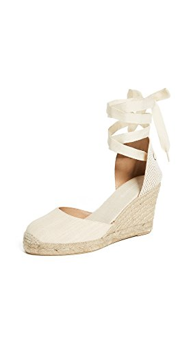 Soludos Women's Tall Wedge Espadrilles, Blush, Off White, 8 Medium US