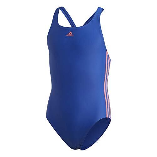 adidas Mädchen FIT Suit 3S Y Swimsuit, Team royal Blue/Semi Flash red, 1314