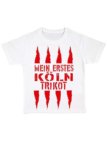 clothinx Kinder Bio T-Shirt Mein erstes Köln Trikot Weiß Gr. 92