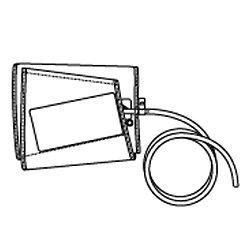 電子血圧計(上腕式)用 交換腕帯(太腕用)適用腕周32~42cm /8-1482-12
