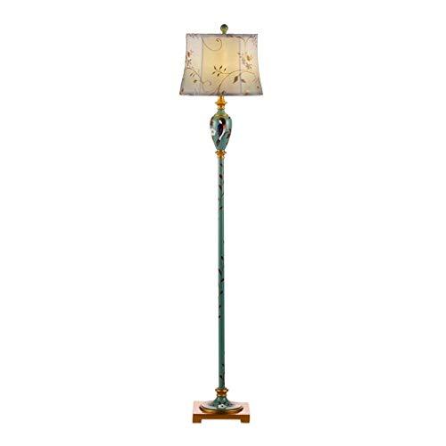 LY88 licht borduurwerk stof lampenkap staande lamp ijzer hand Pull schakelaar lezen hoge paal staande licht kleur: met afstandsbediening