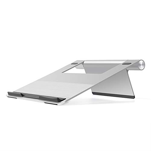 Aluminium Laptop Stand Laptop Screen Riser Opvouwbare Draagbare Snelle Koeling Laptop Stand ZILVER