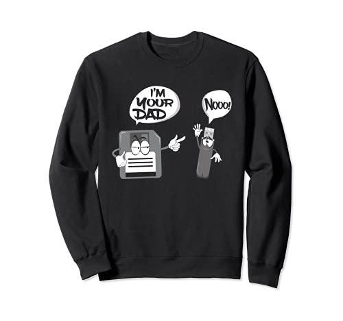 Lustige Nerd Geek USB-Diskette Ich bin dein Vater Sweatshirt